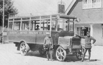 Aldershot and District Traction Bus 1914