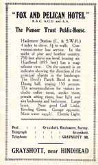 Advert Grayshott Handbook c.1926.