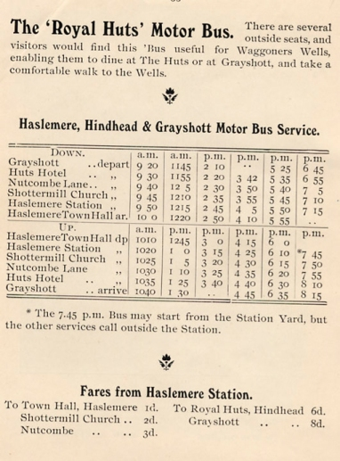 Ben Chandlers time and fare tables 1910