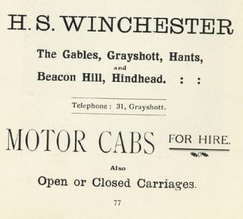 'The Gables' 1915 advert