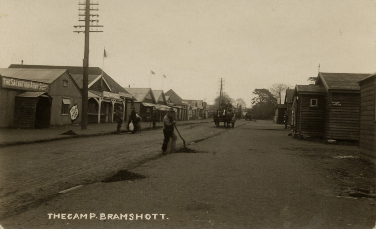 Canadian army camp, Bramshott Chase, WW1
