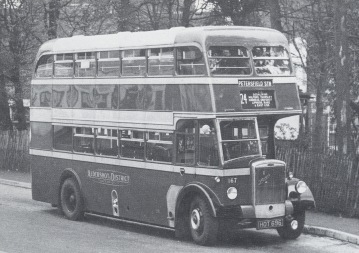 Aldershot and District Traction Co. Dennis bus 1950's