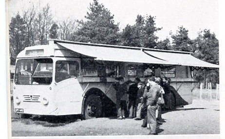 Former A.E.C. bus serves tea and coffee 1950-60's