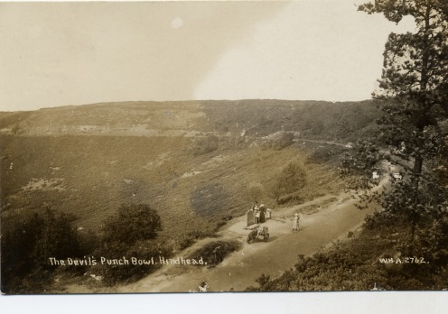Punchbowl from road, c1908