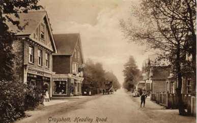 Headley Road towards Hindhead c.1906