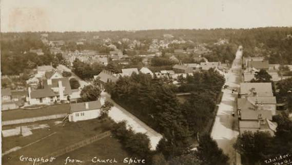View from church spire 1910.