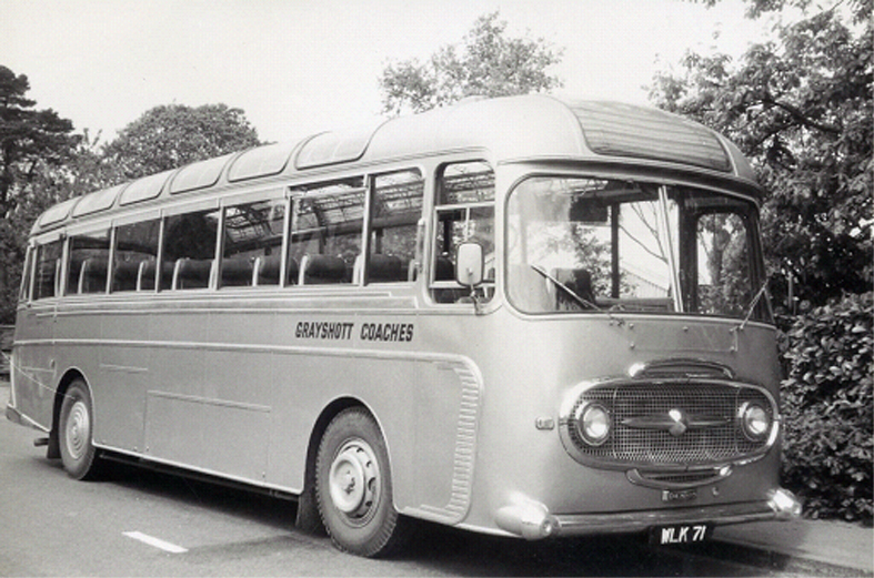 Pride of the Grayshott Coaches fleet in 1965