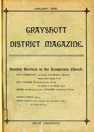 Cover of first Magazine-January 1898