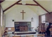 methodist church interior, 1968
