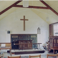 methodist church interior, 1968