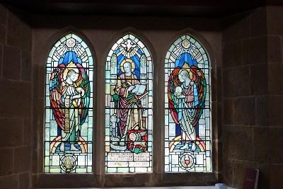 St Luke writing his Gospels.