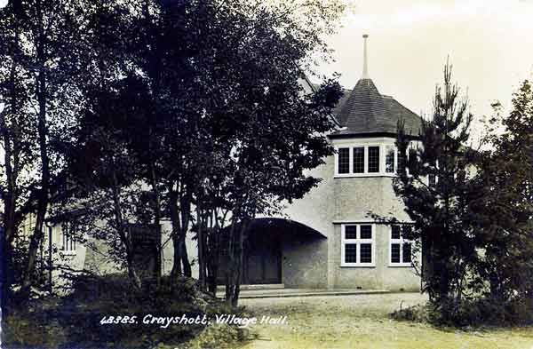 Grayshott Village Hall c.1902