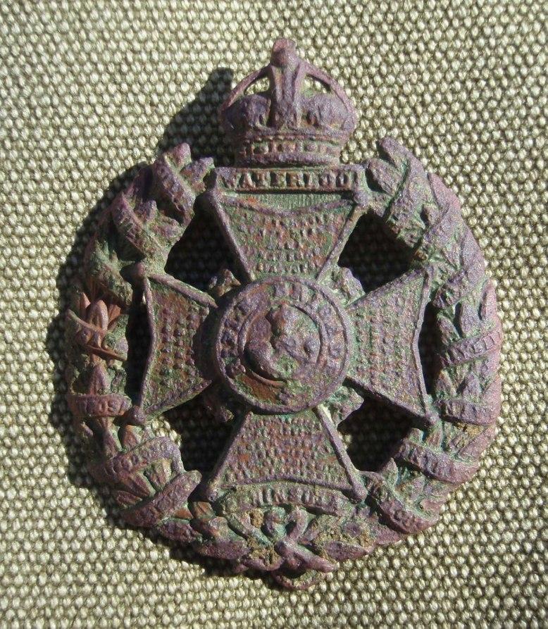 Rifle Brigade Cap Badge, Great War, found in Grayshott.