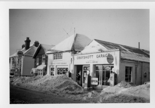 Grayshott Garage Winter 1962 63
